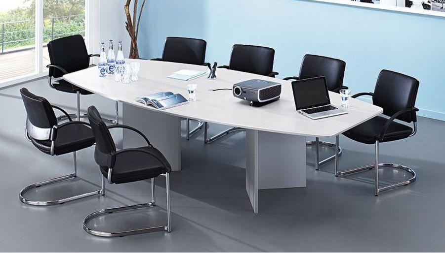 weißer Konferenztisch 280 x 130 cm