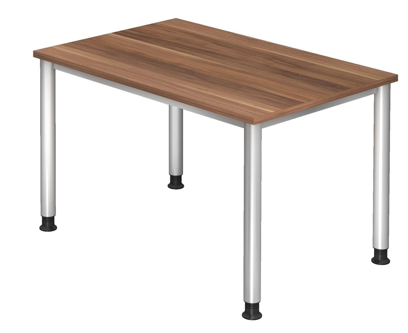 robuster Büroschreibtisch 120 x 80 cm Tischplatte in Zwetschge-Dekor