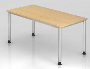 hochwertiger Büroschreibtisch 160 x 80 cm mit robuster Tischplatte in Ahorn-Holzdekor