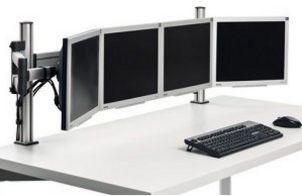stabilen Schreibtisch-Befestigung von 4 Monitore