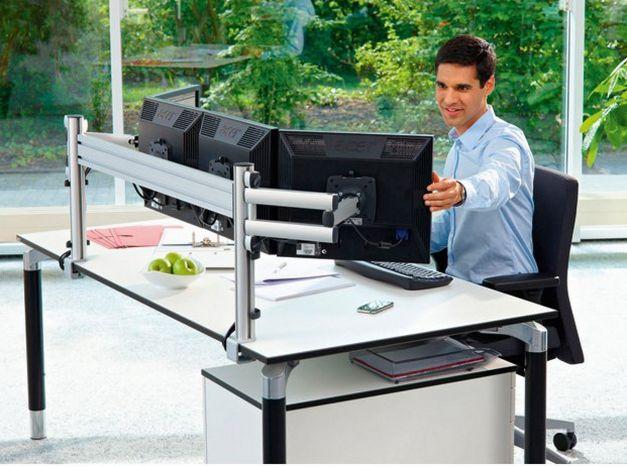vierfache Monitorhalterung Tischbefestigung von 4 Computermonitore