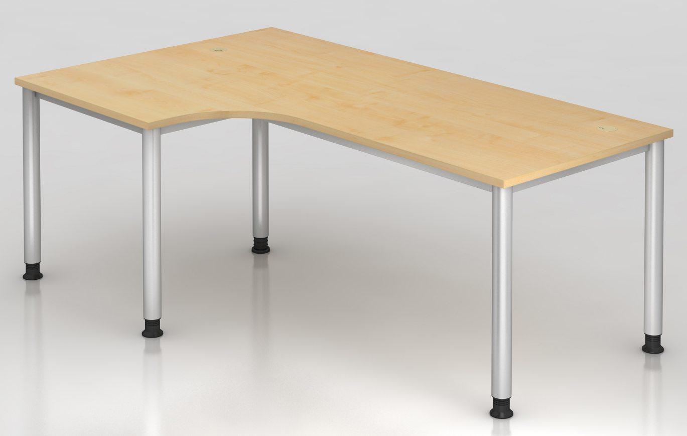 Büroschreibtisch mit großer Tischplatte und Kabeldurchlassdosen
