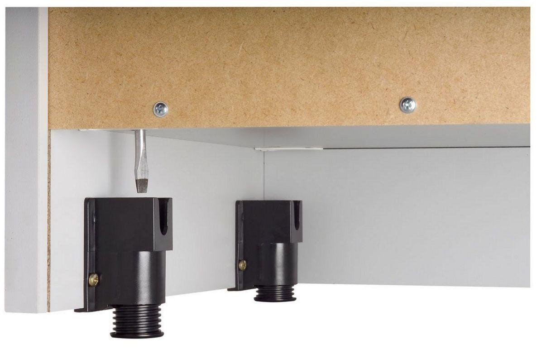 Büroschrank höhenverstellbar Stellfüße