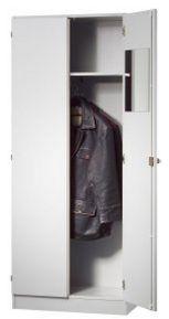 Büro-Garderobenschrank silbergrau