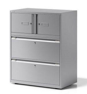 Büroschrank mit Schubladen und Schrankfächer separat abschließbar