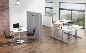 schallabsorbierende Stellwand als Büro-Raumteiler