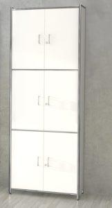 Büroschrank in 6 Ordnerhöhen) mit abschließbaren Drehflügeltüren