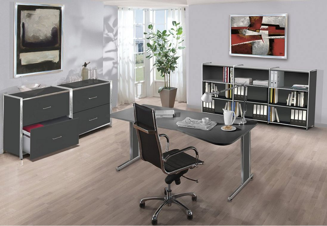 günstige Büromöbel anthrazitfarben
