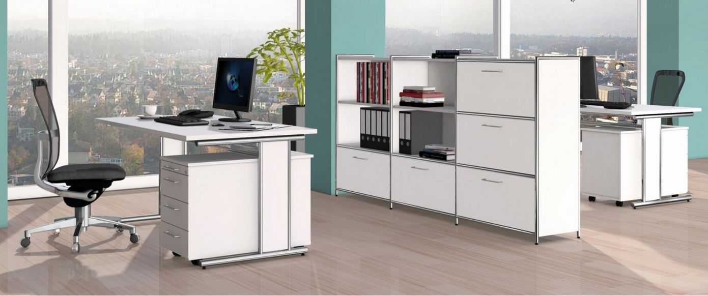 Büro-Schränke als Raumteiler