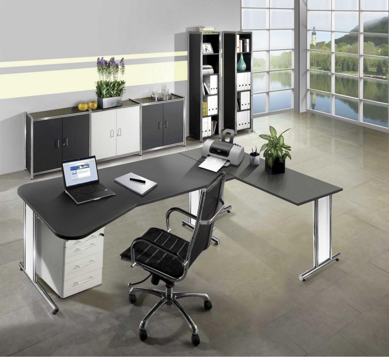 modernes Bürosideboard anthrazit