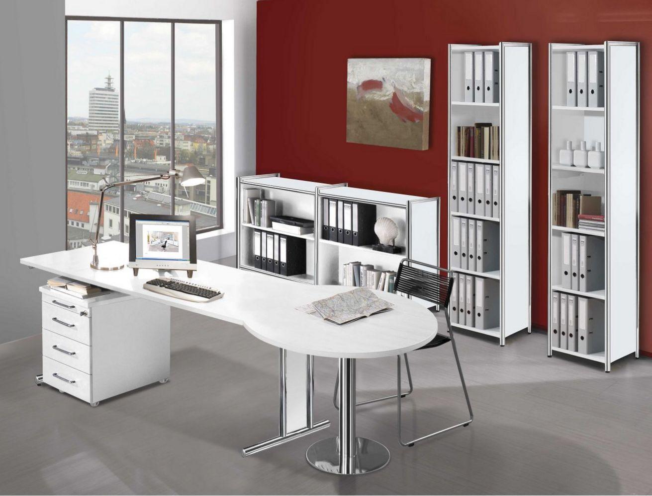 moderne Bürozimmerausstattung weiß
