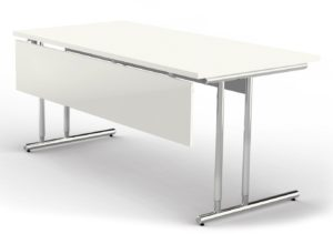 höhenverstellbarer Schreibtisch 160 x 80 cm mit Knieraumblende