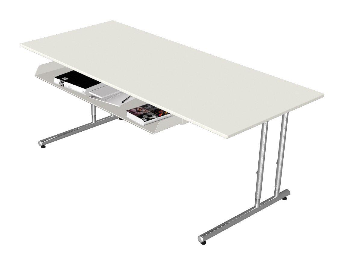 Schreibtisch mit Kabelwanne und ausziehbarer Schublade