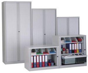 abschließbarer Rollladen-Büroschrank Metallböden