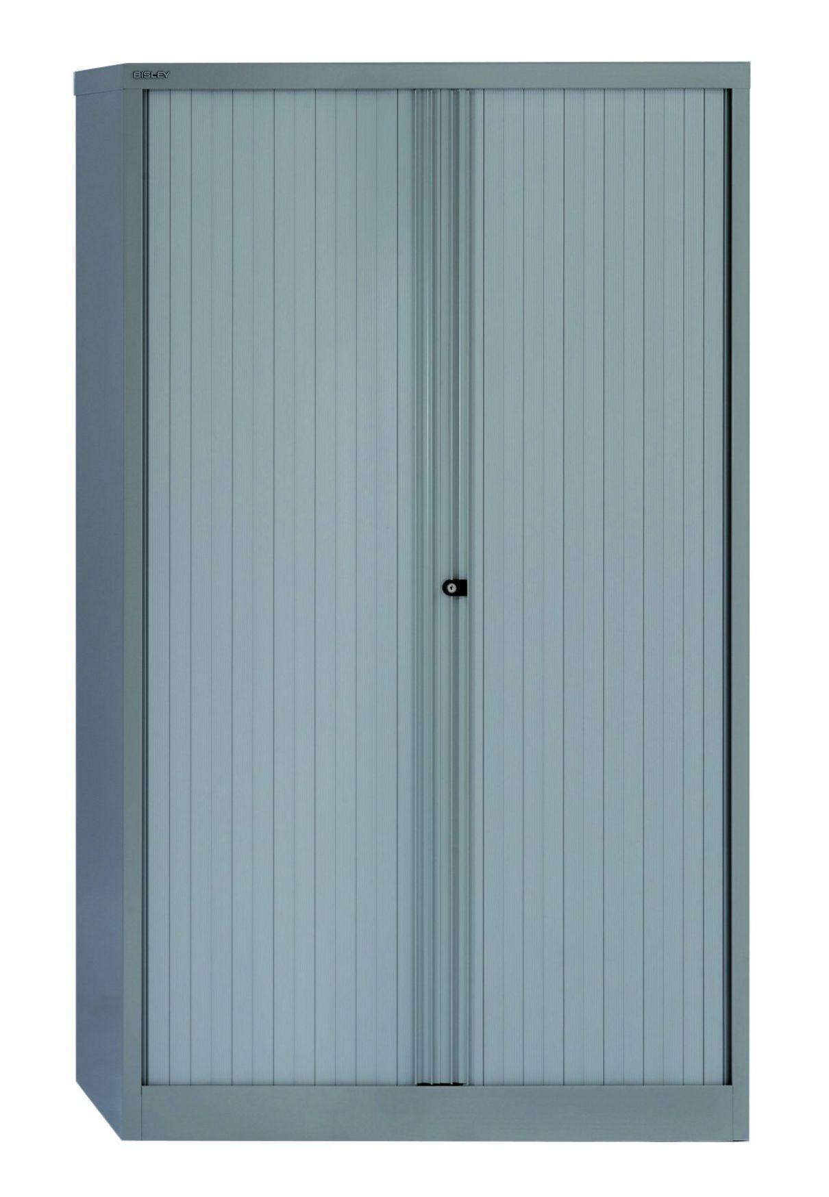 abschließbarer Rollladen-Büroschrank Stahl