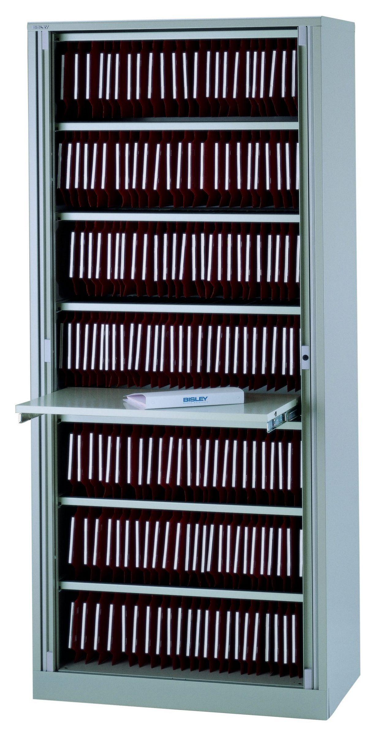 Rollladen-Büroschrank mit Lateralhängevorrichtung