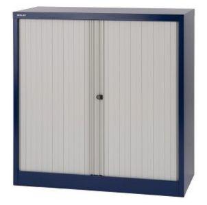Rollladenstahlschrank blau