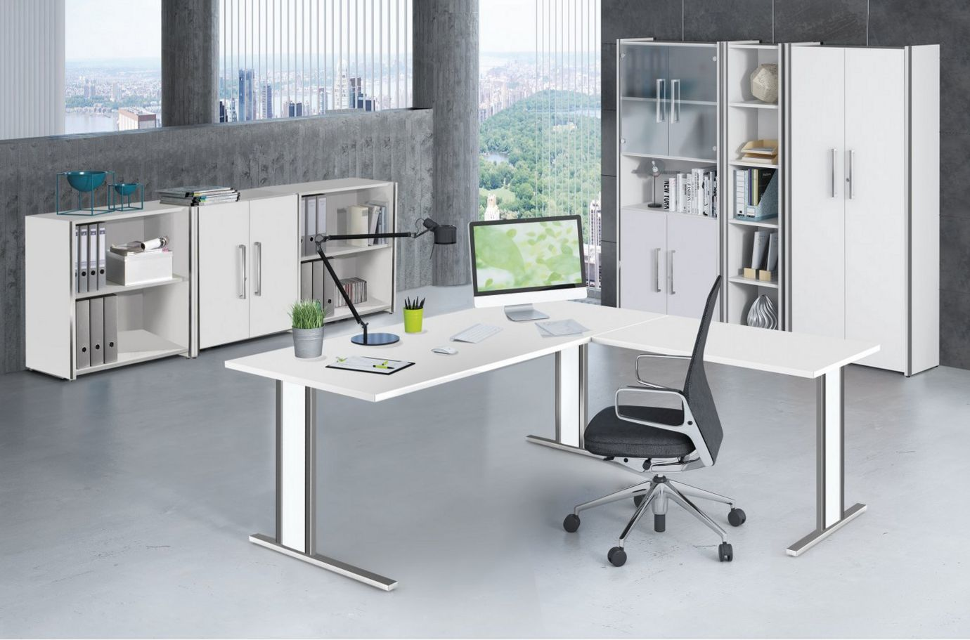 stilvolle Büroschränke mit Glastüren