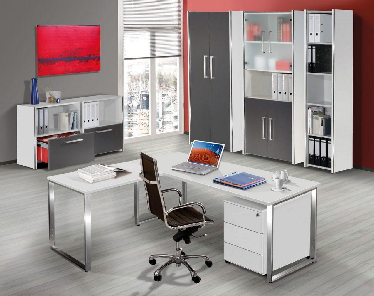 elegante Büroschränke mit Glastüren abschließbare Holztüren