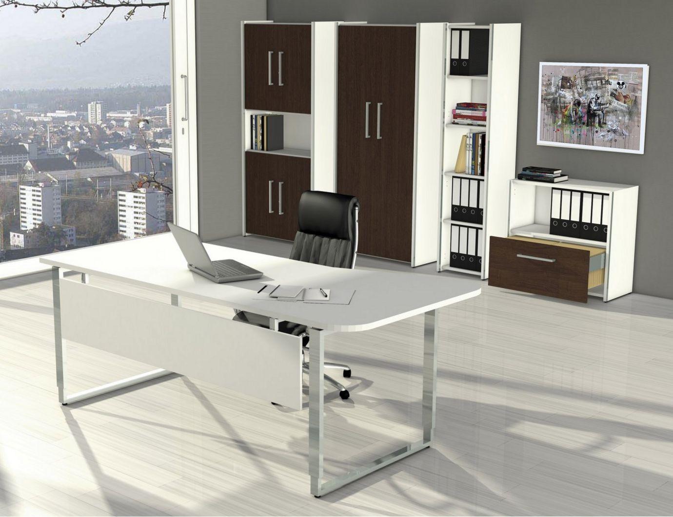 EDV-Schreibtisch mit Kabelkanal höhenverstellbar