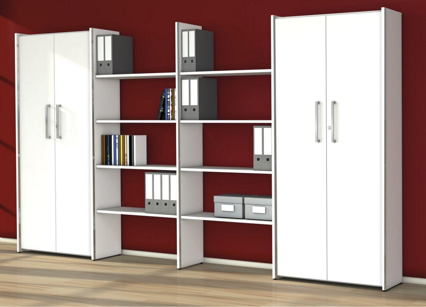 stabile Büro-Schrankwand mit 5 Aktenfächer