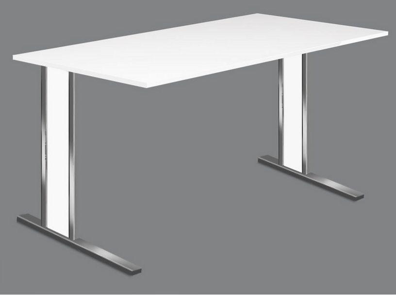 preiswerter Schreibtisch mit Kabelkanal