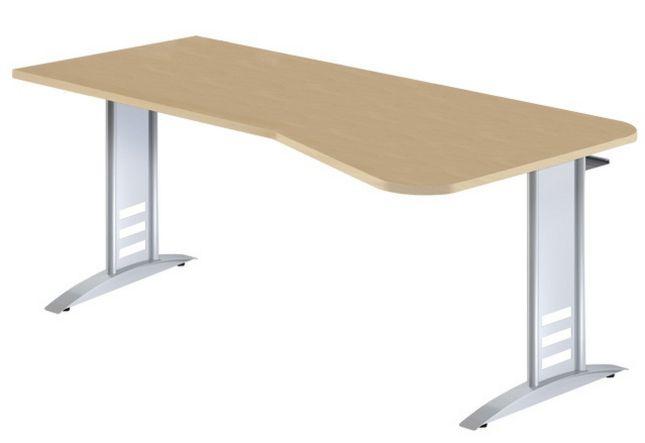 EDV-Schreibtisch mit Kabelwanne für Mehrfachsteckdose