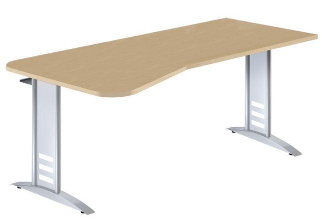 EDV-Schreibtisch mit großer Kabelwanne