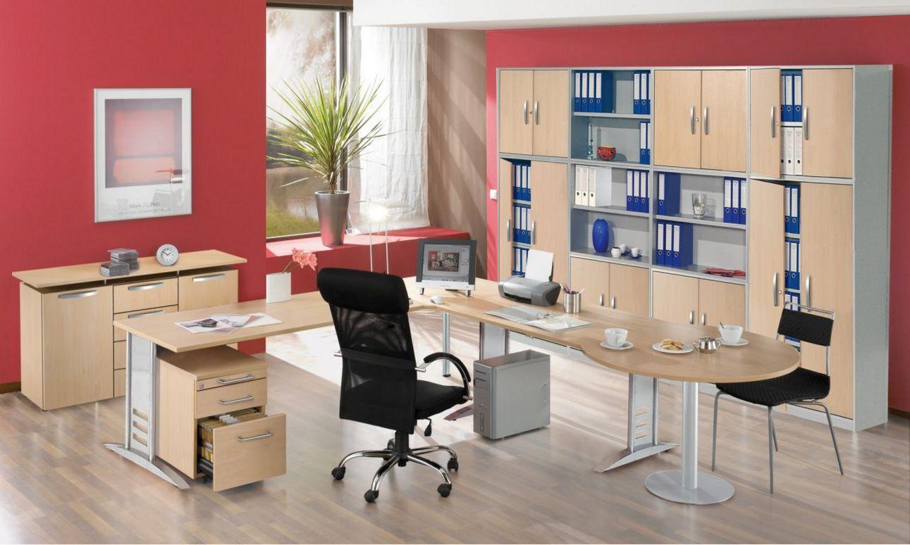 Büroschrankwand individuell konfigurierbar