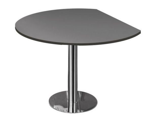 dreiviertelrunder Ansatztisch für Schreibtisch