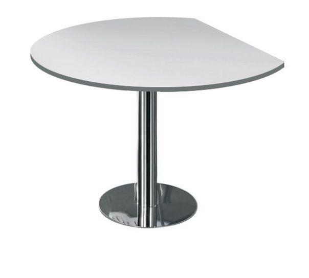 Bdreiviertelrunder Schreibtisch-Ansatztisch