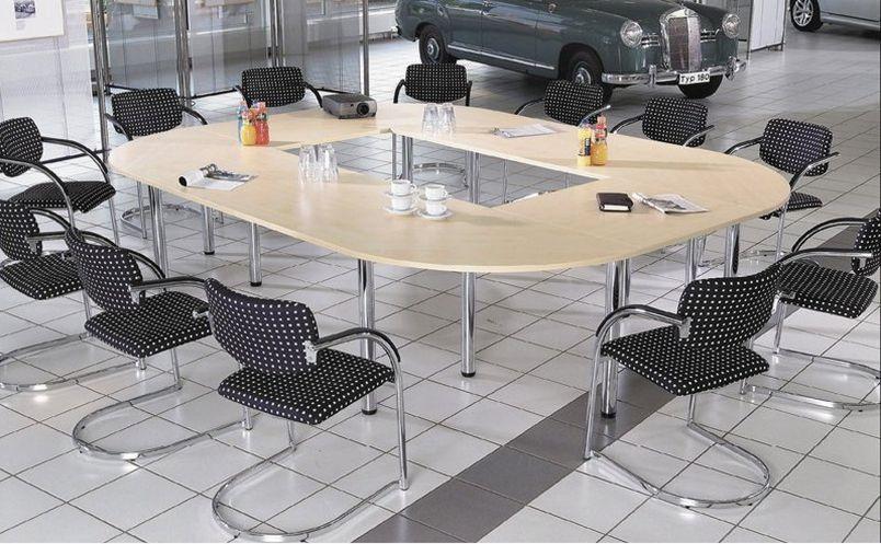 12-Personen Besprechungstisch runder in der Mitte offen