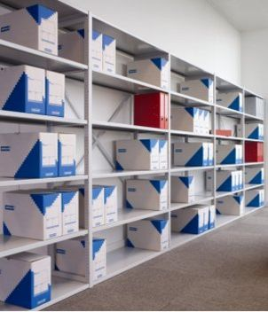 Büro-Lagerregal belastbare Metall-Fachböden