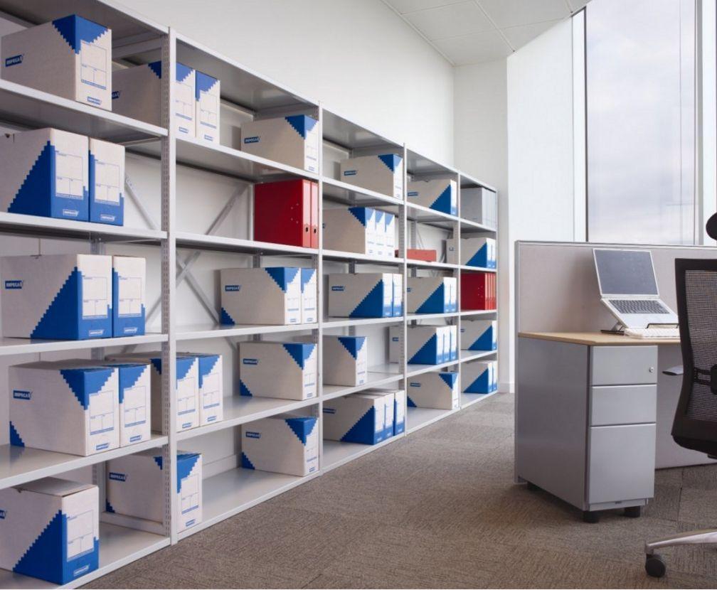 erweiterbares Büro-Stahlregal