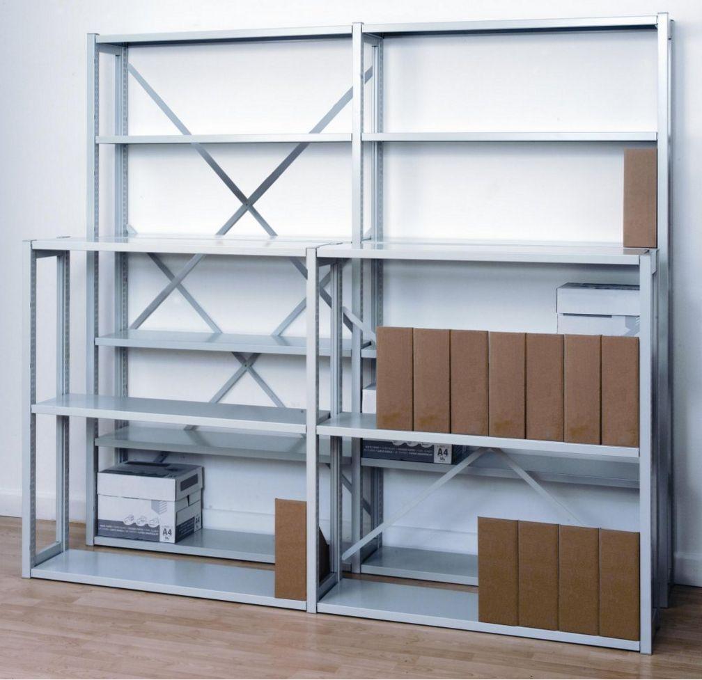 erweiterbares Büro-Lagerregal Metall