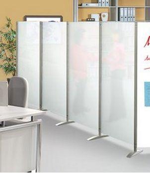 mobile Sichtschutzwand halbtransparent