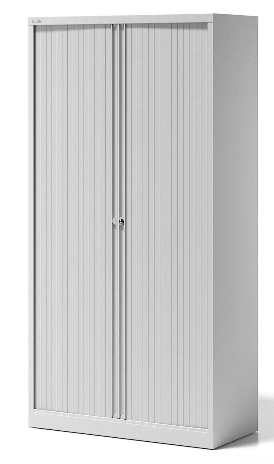 weißer Bürostahlschrank abschließbare Rollläden Höhe = 197 cm