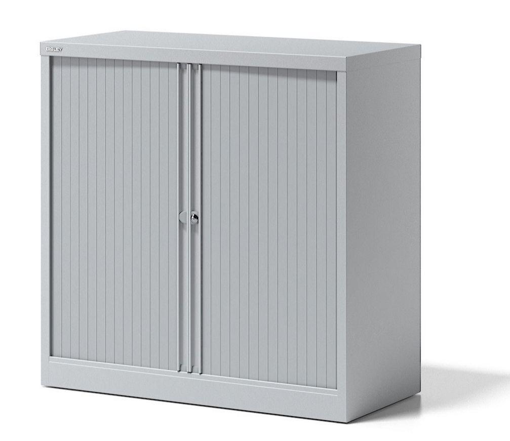 Bürostahlschrank mit abschließbaren Rollladentüren Höhe = 100 cm