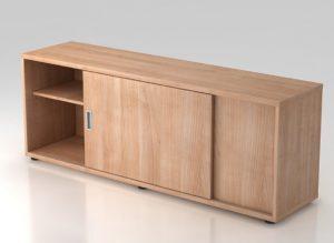 Schreibtisch-Schrank in Nussbaum-Holzdekor