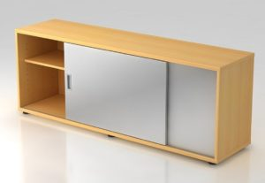 Büroschrank als Schreibtischauflage