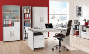 weißer Wangen-Schreibtisch 160 x 80 cm
