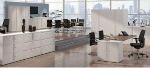 weiße Bürostahlschränke sicher abschließbar