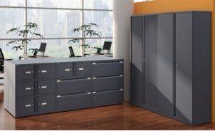 abschließbare Bürostahlschränke anthrazitfarben