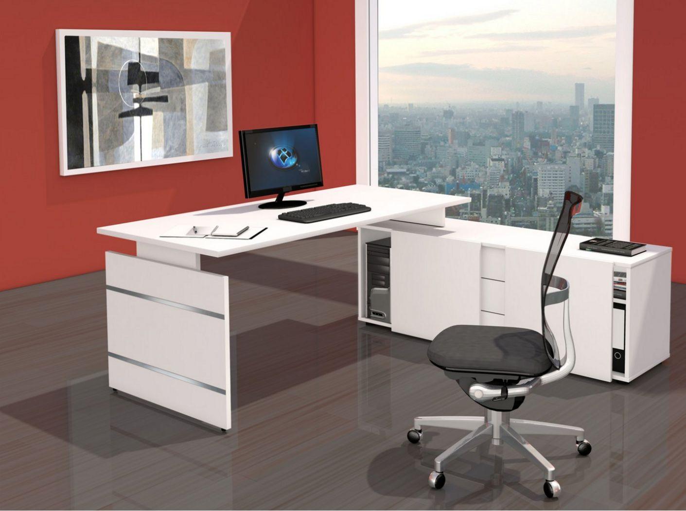 Bürosideboard mit Aufsatzschreibtisch