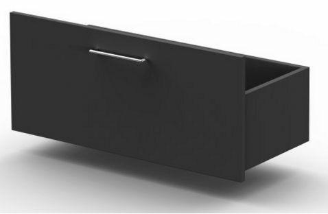 anthrazitfarbene Büroschrank-Schublade