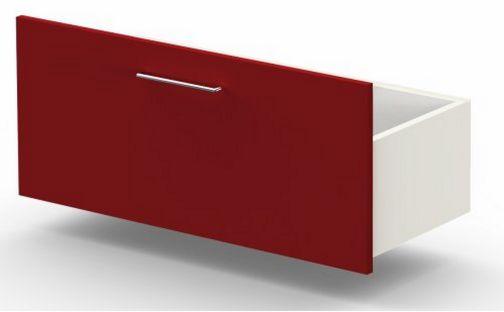 rote Büroschrank-Schublade