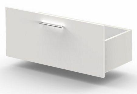 weiße Büroschrank-Schublade