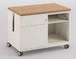 Schreibtisch-Rollcontainer aus Stahl