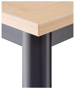 Besprechungstisch Tischbeine Rundrohr schwarz