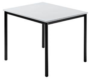 erweiterbarer Besprechungtisch Tischbeine Rundrohr schwarz